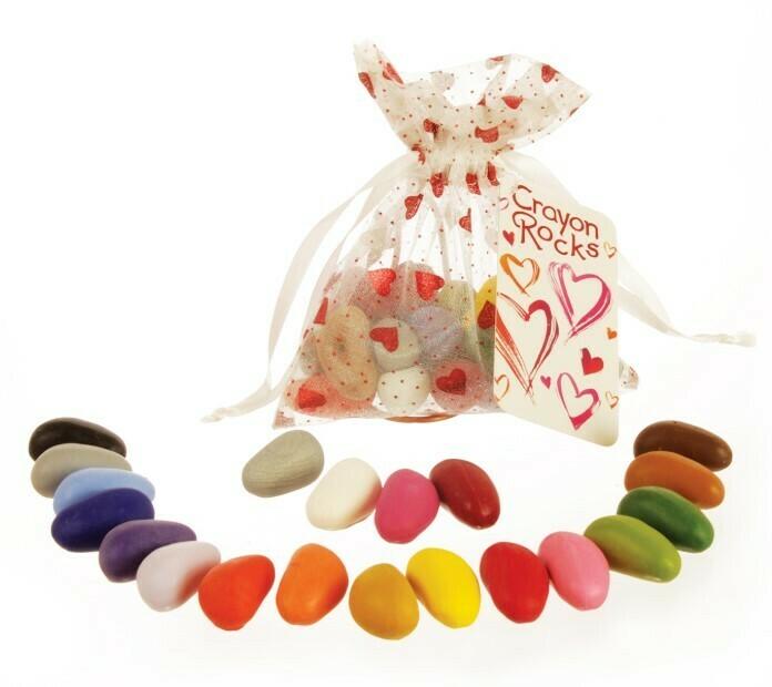 """Мелки-камушки восковые, набор 20 цветов """"Праздничный"""""""