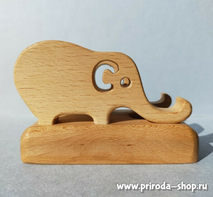 """Подставка под телефон """"2 слона"""", Мастерская PRIRODA shop"""