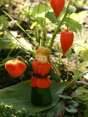 Набор для изготовления фетровой игрушки «Физалис», мастерская Sun-dolls