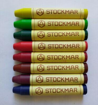 Мелки восковые пальчиковые Stoсkmar (Штокмар), ассорти 8 цветов (без упаковки)