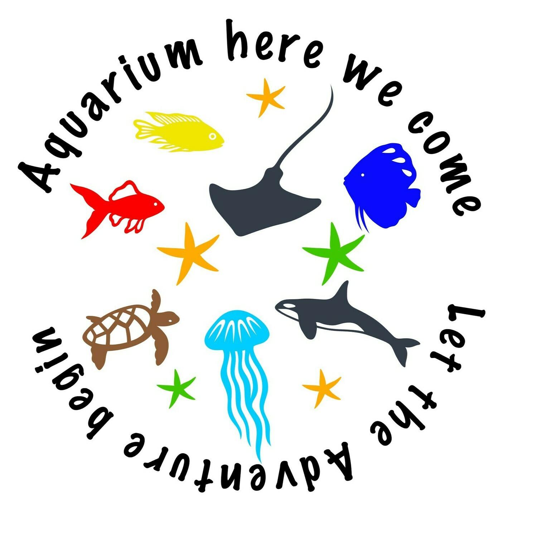 """"""" Aquarium here we come""""Printable Sublimation file"""