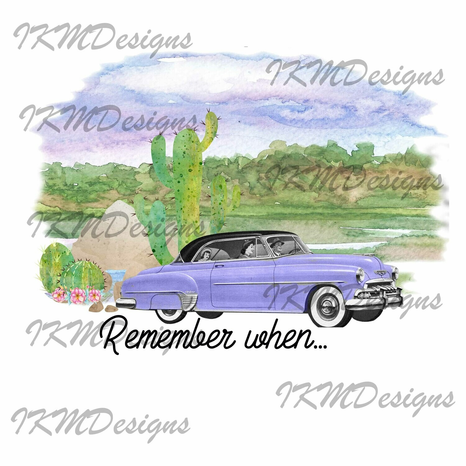 """""""Remember When ..."""" Printable Sublimation File"""