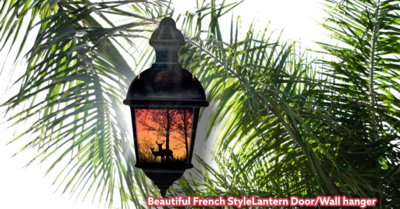 Beautiful French StyleLantern Door/Wall hanger