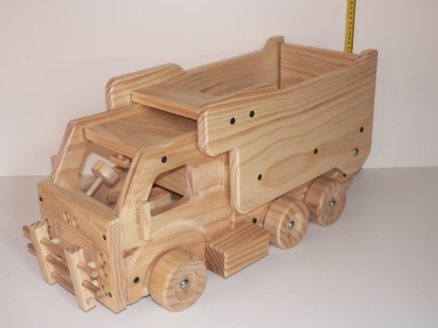 Large Dump Truck / Hand crafted from Wood
