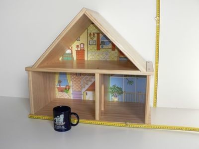 Two Storey Doll House hand made from wood in Australia