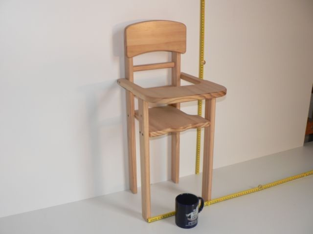 Dolls High Chair made from wood at The Toy Factory