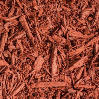 Red Dyed Hardwood Mulch