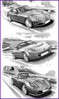 Classic Memories TVR Personalised Print - most models