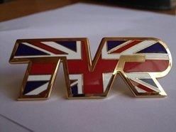 Union Jack TVR Bonnet Badge