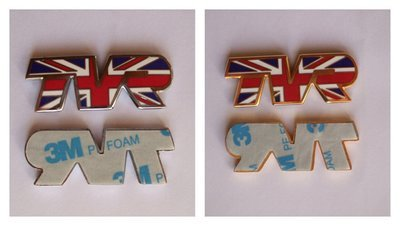 Union Jack TVR Indicator Badges - one pair