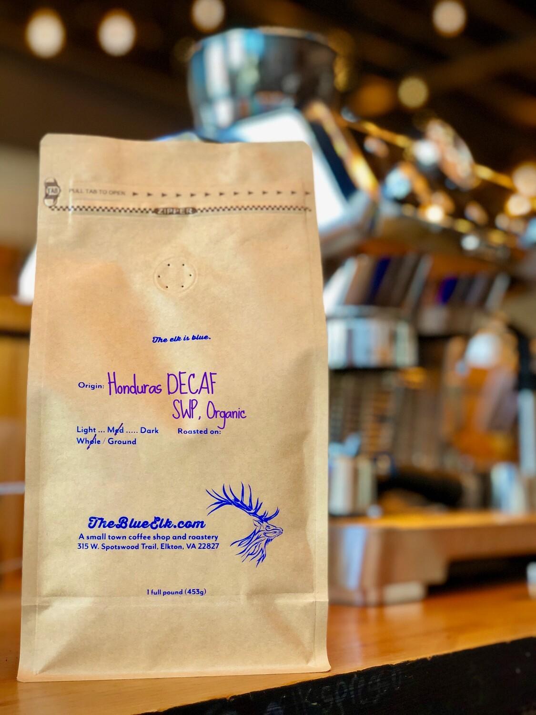 Honduras Decaf, SWP Organic, Five Pounds