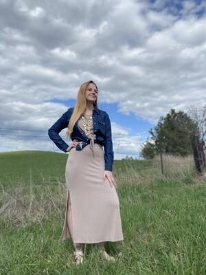 Annette Wrap Maxi Dress