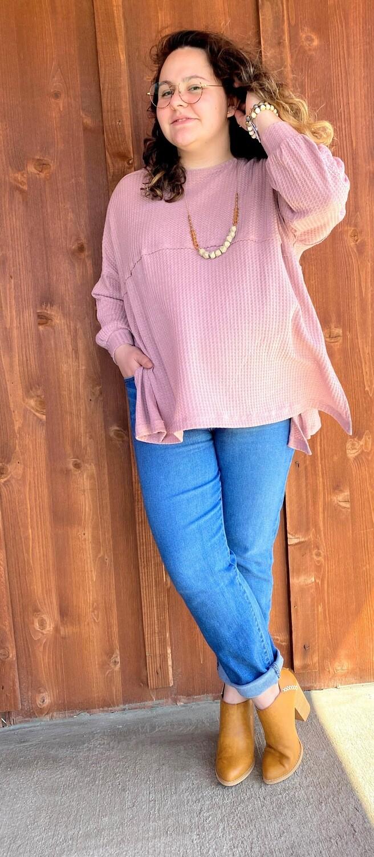 Erin Waffle Knit Tunic