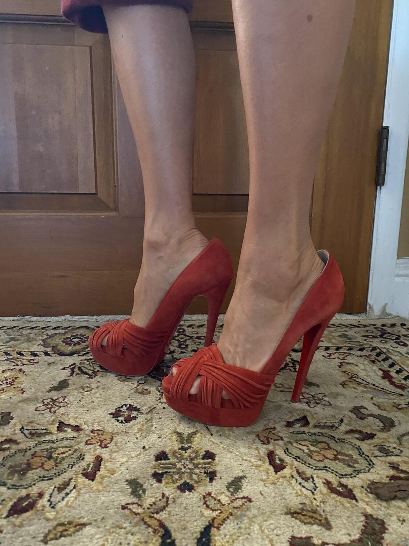 Louboutin Red Sandal Heel