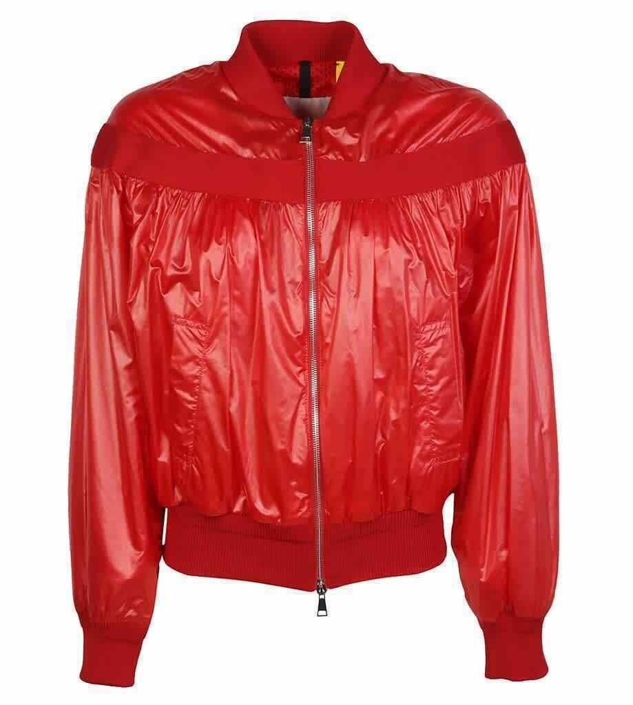 MONCLER Red Nassau Nylon Jacket Coat