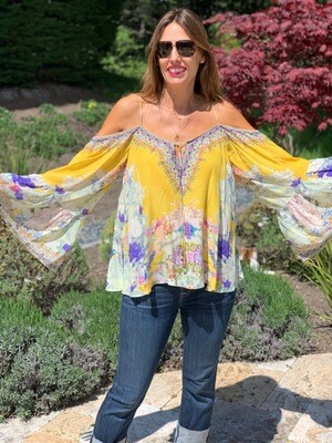 H Camille Beaded Blouse