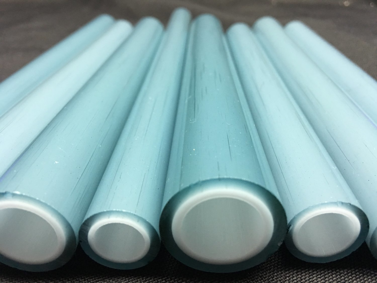 DayGlow over Star White Double Layer Boro Tubing