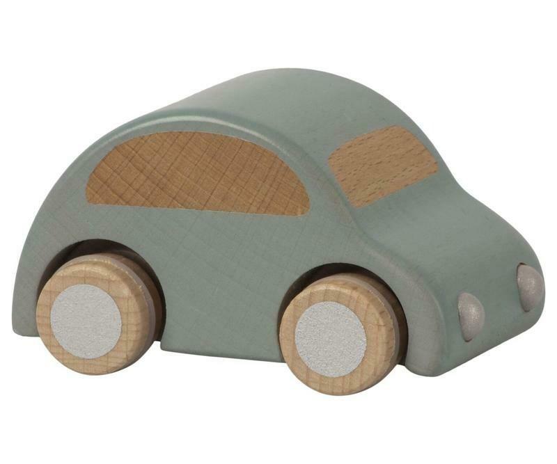 WOODEN CAR, BLUE