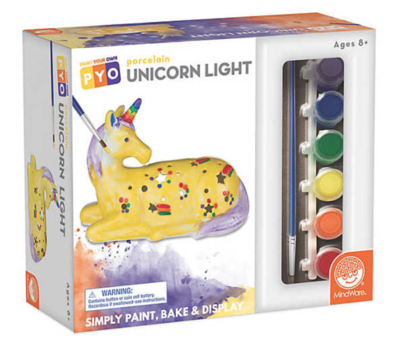 PAINT YOUR OWN PORCELAIN UNICORN LIGHT