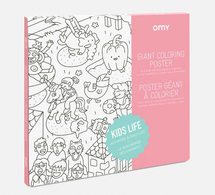 OMY COLORING POSTER KIDS LIFE