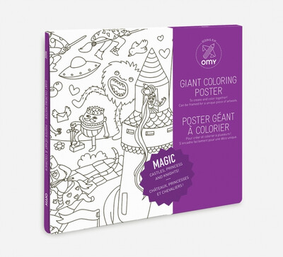 OMY GIANT COLORING POSTER MAGIC