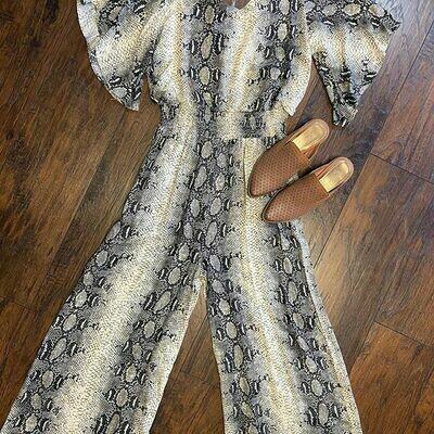 Snake Printed Jumpsuit