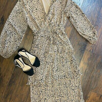 Cheetah Print Midi Dress