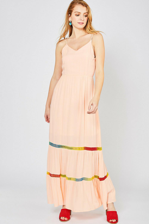 Maxi Dress w Rainbow Insert Detail