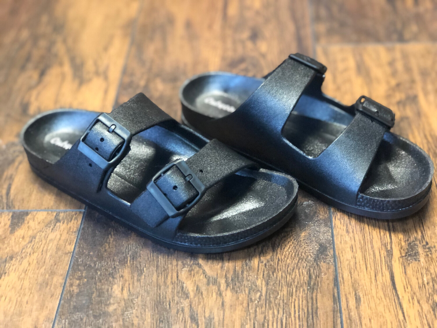 Outwoods Double Strap Sandal- Black