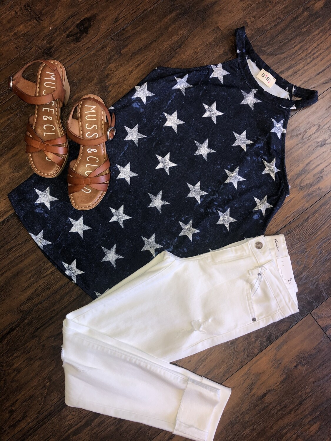 Star Print Halter Neck