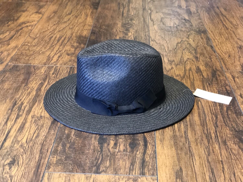 Fedora Black Straw Hat