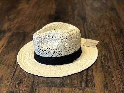 Panama Hat with Black Ribbon