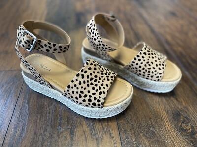 Cheetah Stacked Sandal