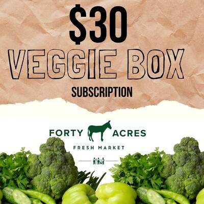 $30 Veggie Box Subscription