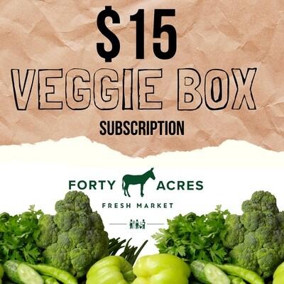 $15 Veggie Box Subscription