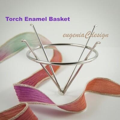 Torch Fire Enamel, Torch Fire Basket, Torch Fire Enamel Basket, Stainless Steel, Torch Enamel Basket