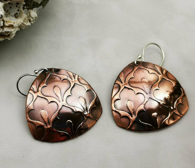 Dangle Earrings, Moroccan, Moroccan Jewelry, Moroccan Design, Moroccan Earrings, Moroccan Jewelry, Copper Jewelry, Copper Earrings