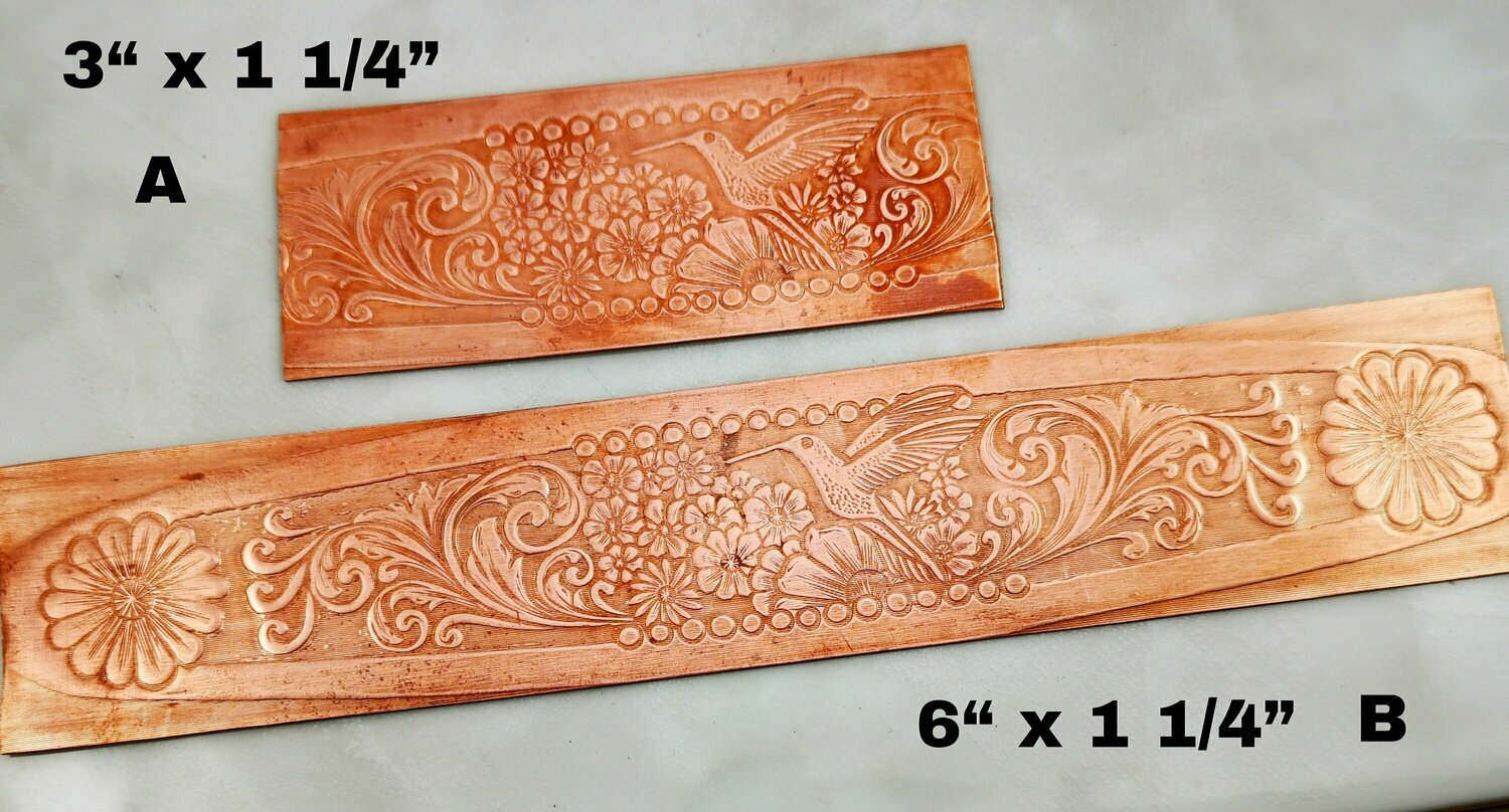 Textured Copper Sheet Metal from a Bill Rice Hand Engraved design