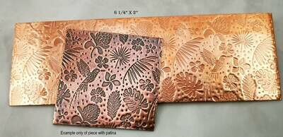 LIMITED AVAILABILITY Humming Bird Textured Copper Sheet Metal 6