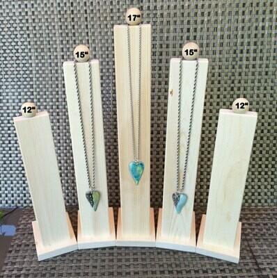 Display Stand, Wood Display, Jewelry Display, Necklace Display, Necklace Holder, Natural Wood Display, Minimalist Display, 12