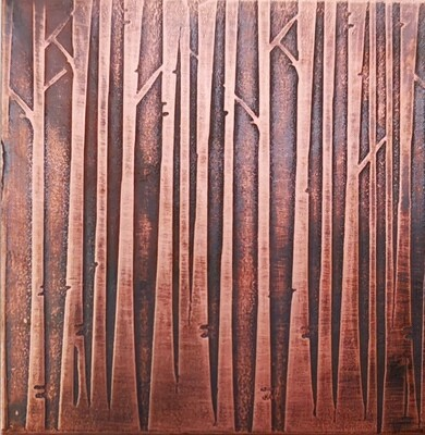 Patterned Metal, Patterned Copper, Copper Metal, Sheet Metal, Textured Copper, Rolling Mill Texture, Birch Tree, Birch Tree Craft