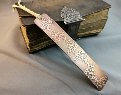 Handmade Patterned Copper Bookmark