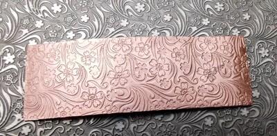 Field Flowers Patterned Textured Copper Sheet Metal 6