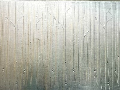 Patterned Metal, Patterned Silver, Sterling Silver Metal, Sheet Metal, Textured Silver, Rolling Mill Texture, Birch Tree, Birch Tree Craft