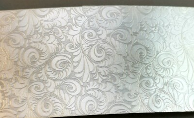 Tooled Leather Patterned Textured Sterling Silver Sheet Metal 6