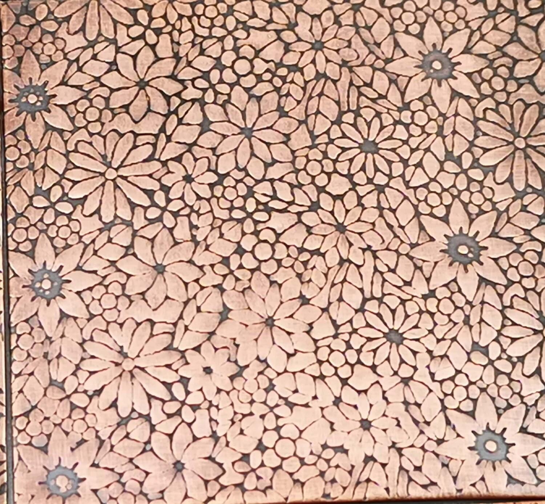 Joni Flower Patterned Textured Copper Sheet Metal 6