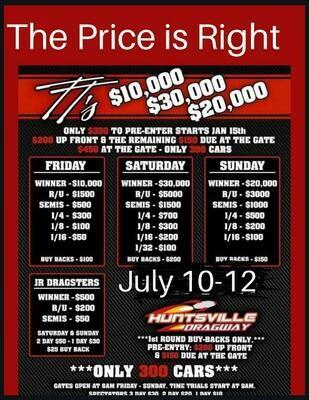 July 10-12 - Deposit ONLY