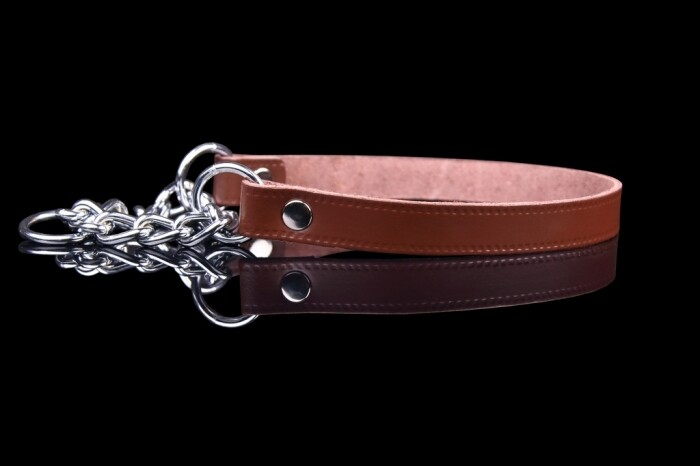 ZOOLeszcz Leather Collar with Chain (1280)