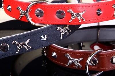 ZOOLeszcz Leather Felt Dog Collar (181)