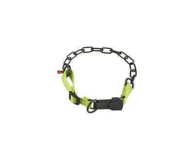Sprenger Black Chain Collar with Yellow Nylon - Discontinued